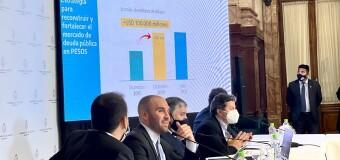 ECONOMÍA – Congreso   El Ministro de Economía Martín Guzmán explicó la estructura de la deuda externa.